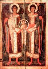 Икона Михаил и Гавриил (копия 13 века)