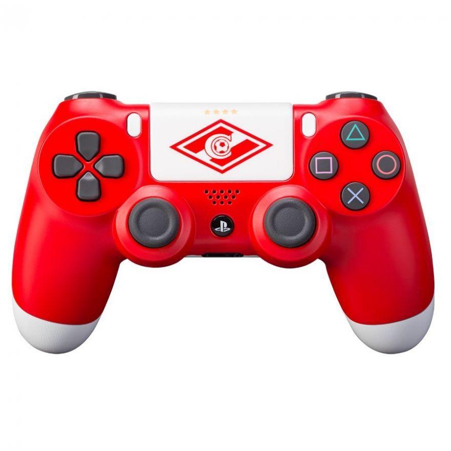 Sony Dualshock 4 кастомизированный ''Красно-Белый'' (PS4)