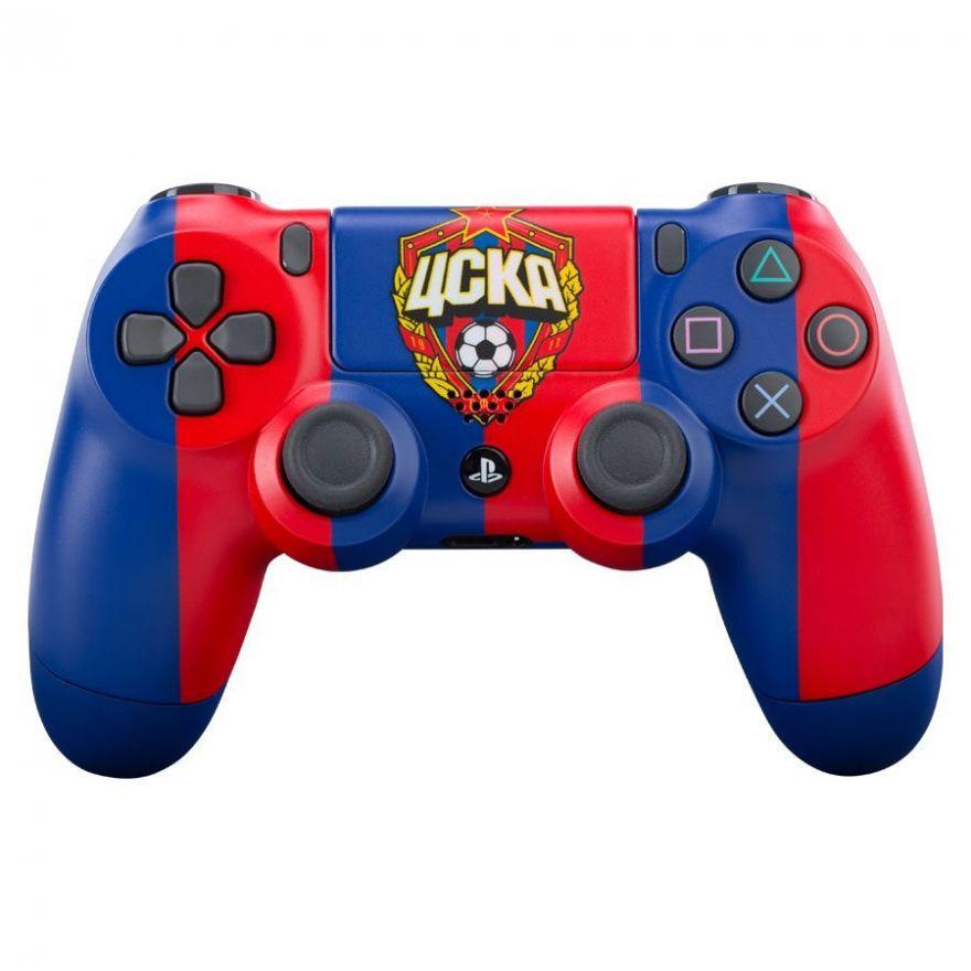 "Геймпад Sony Dualshock 4 FC CSKA ""Красно-Синий"" (PS4)"