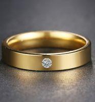 Позолоченное кольцо с цирконом