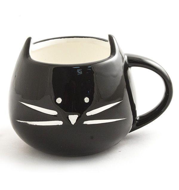 Кружка Котик черный