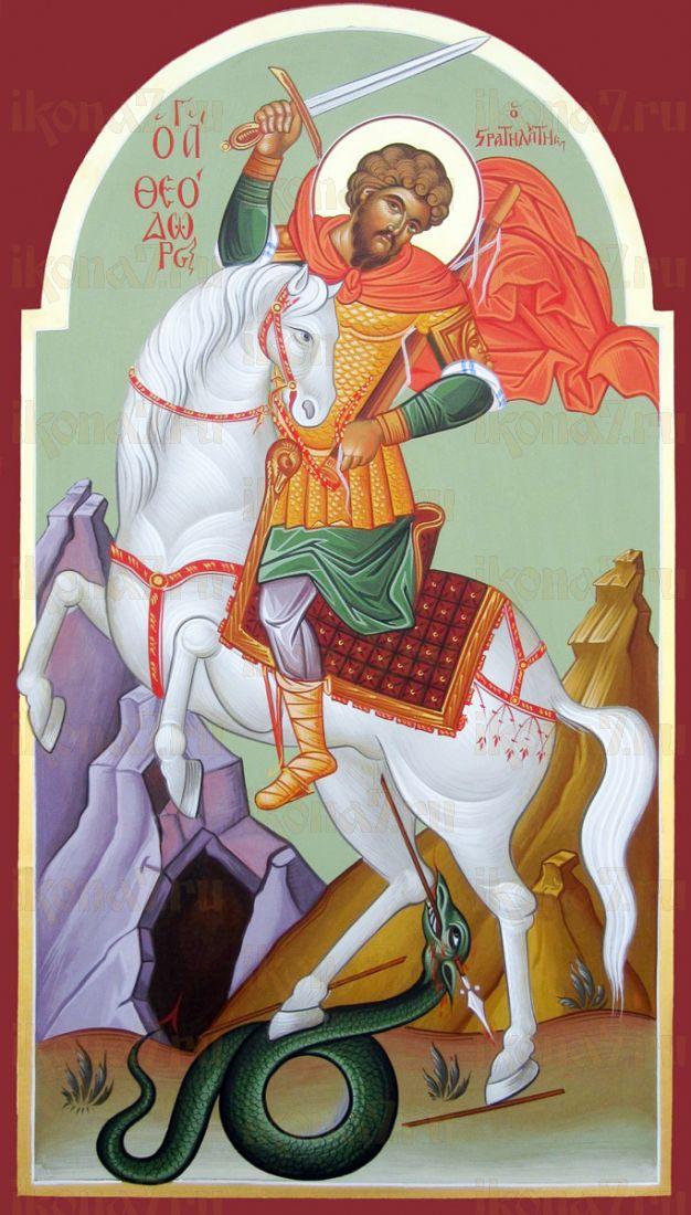 Феодор Стратилат (икона на дереве)