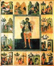 Икона Феодор Стратилат  (копия старинной)