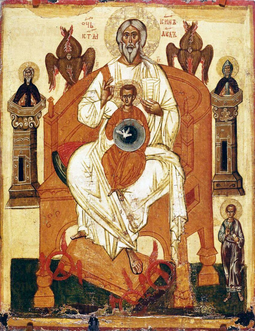 Икона Новозаветная Троица - Отечество (копия 14 века)