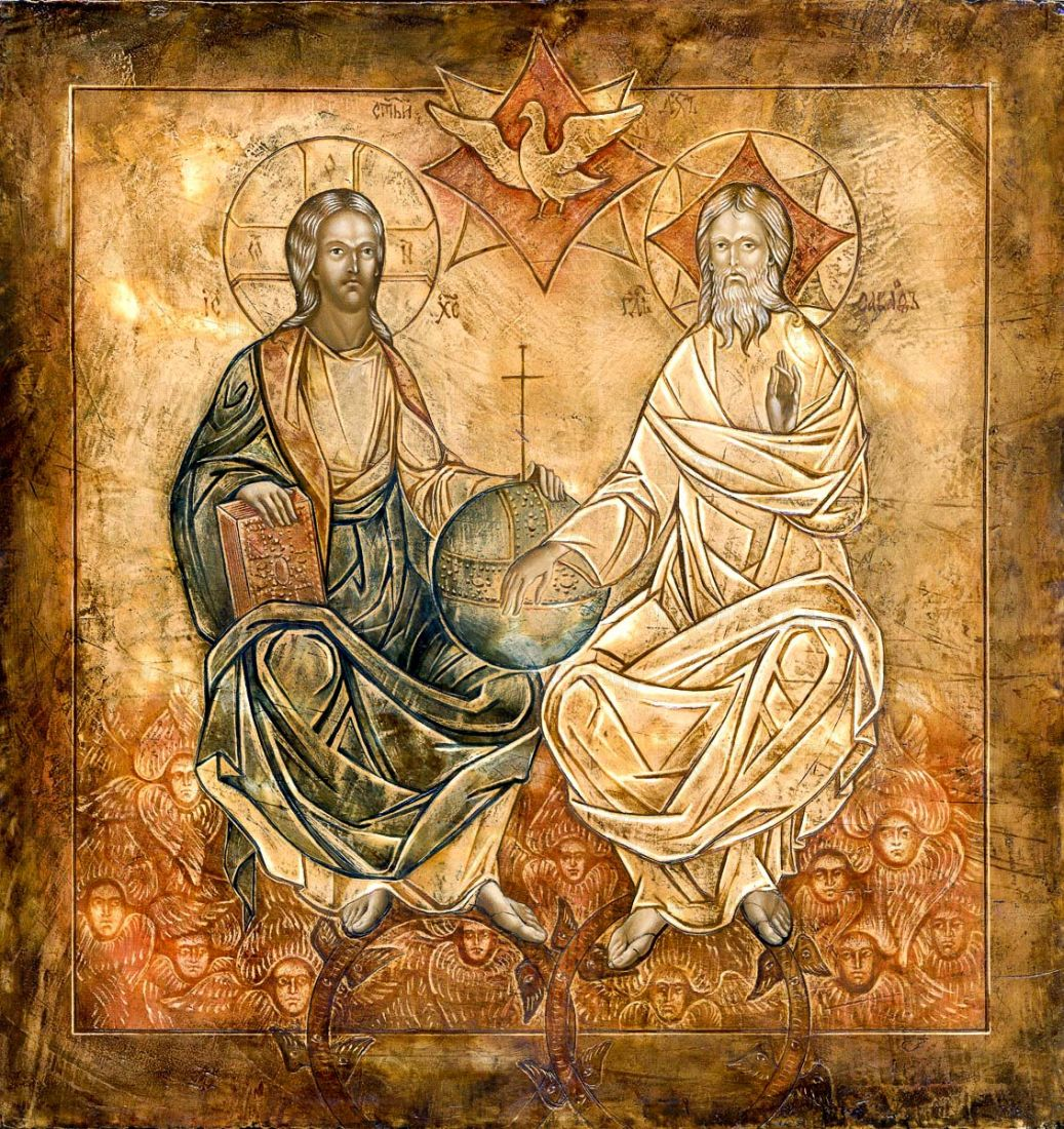 Новозаветная Троица - Сопрестолие (копия старинной иконы)
