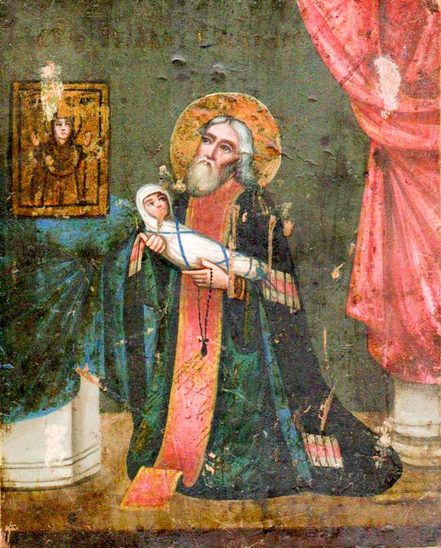 Икона Стилиан Пафлагонский (копия старинной)