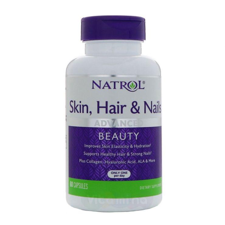 Natrol Витамины для кожи, волос и ногтей Skin Hair Nails, 60 капс