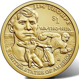 Джим Торп 1 доллар США  2018  монета из серии «Американские индейцы» Монетный двор на выбор
