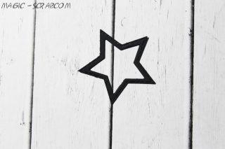 Звездочка - контур 4,8 см