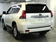 Защита заднего бампера уголки двойные 76 мм для Toyota Land Cruiser Prado 150 2017 -