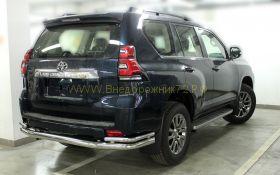 Защита заднего бампера 76x43 мм для Toyota Land Cruiser Prado 150 2017 -