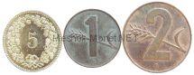 Набор монет Швейцарии (3 монеты)