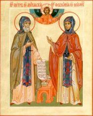 Петр и Феврония Муромские (икона на дереве)