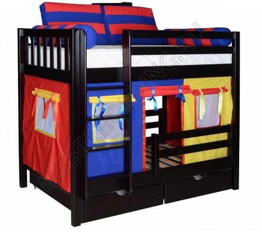 Двухъярусная игровая кровать Галчонок-1