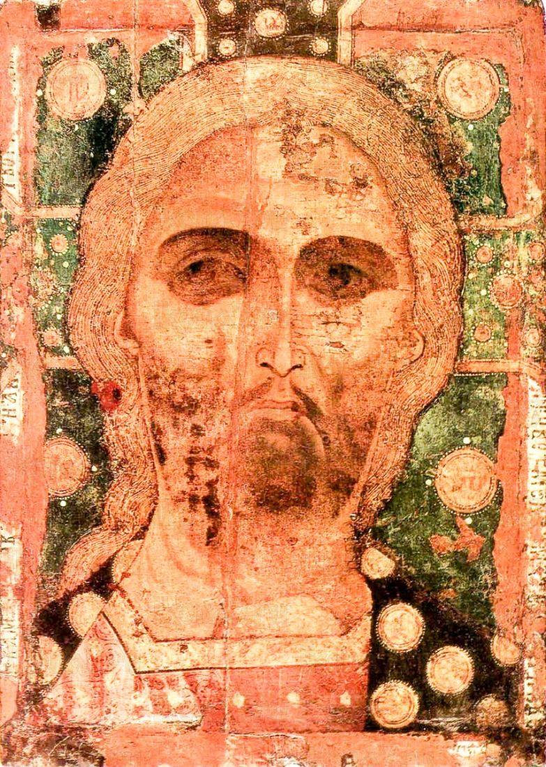 Икона Спас Златые власы (копия 12 века)