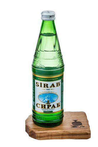 ..Сираб 0,5л азерб.мин.вода леч.столовая стекло
