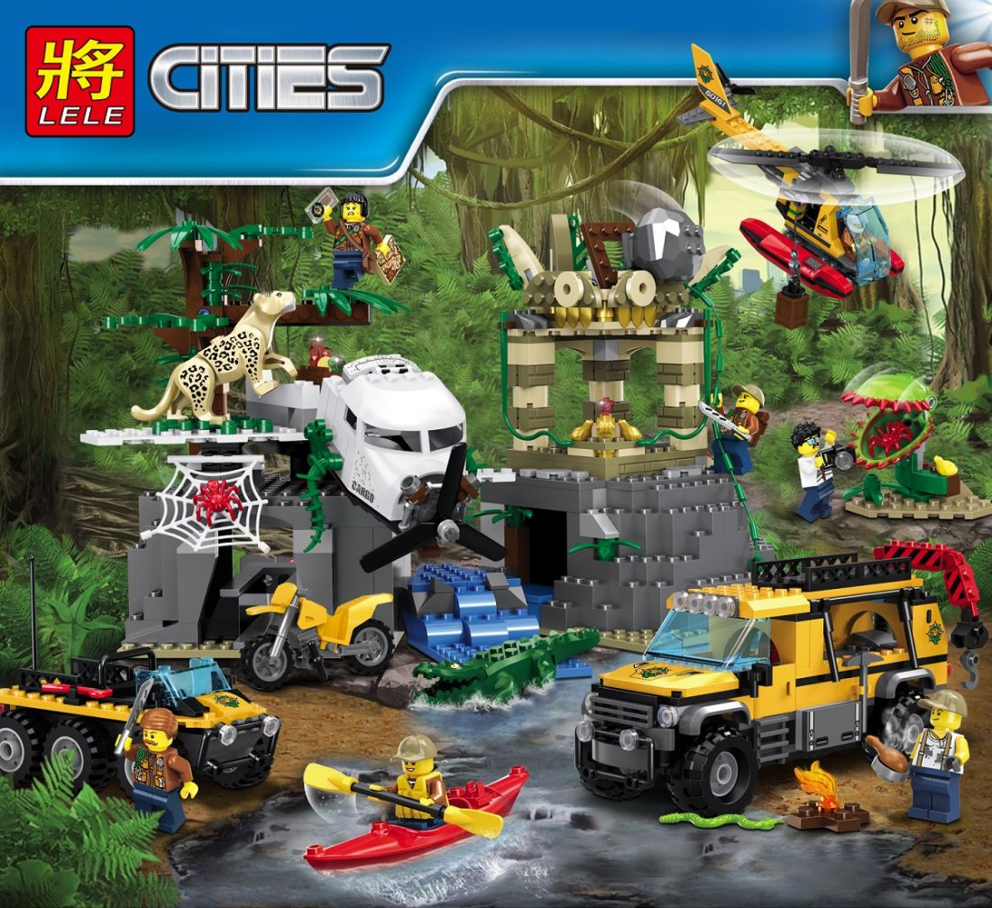 """LELE CITIES """" База исследователей джунглей  """" 870 деталей NO.39065 ( CITY 60161 )"""