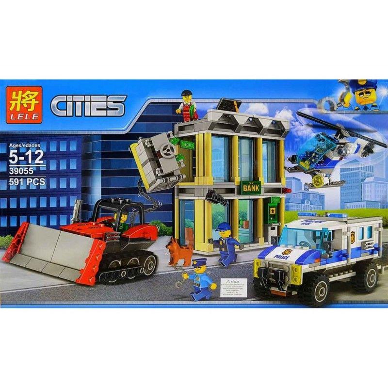 """LELE CITIES """" Ограбление на бульдозере """" 591 деталей NO.39055 ( CITY 60140 )"""