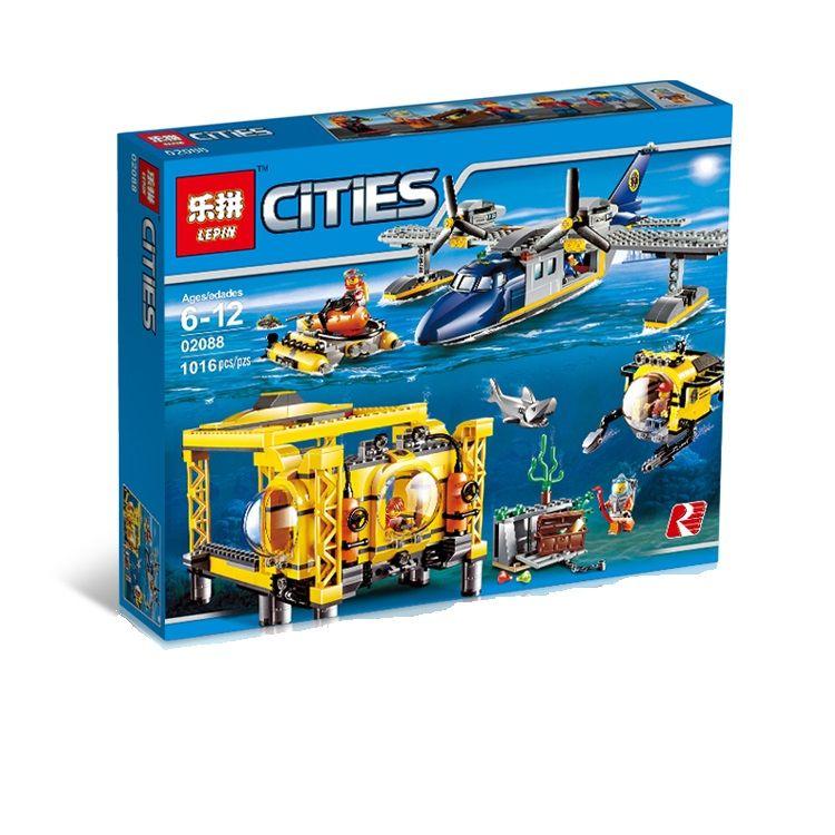 """LEPIN CITIES """" Глубоководная исследовательская база """" 1016 деталей NO.02088 (CITY 60096 )"""