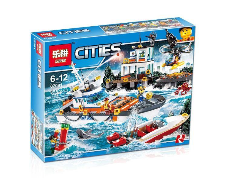 "LEPIN CITIES "" Штаб береговой охраны "" 855 деталей NO.02081 ( CITY 60167 )"