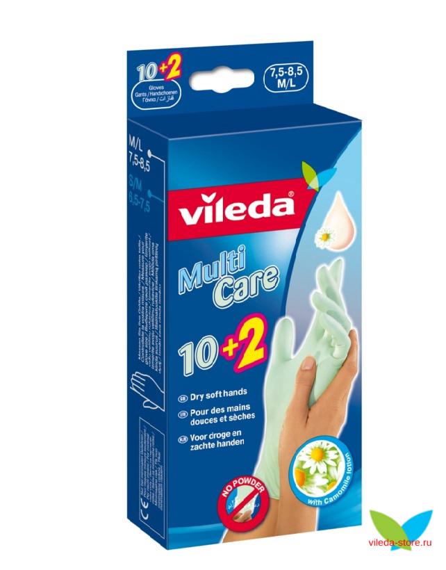 Одноразовые перчатки с бальзамом, размеры: S/M, М/L (10+2 пар в упаковке)