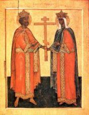 Икона Константин и Елена (копия старинной)