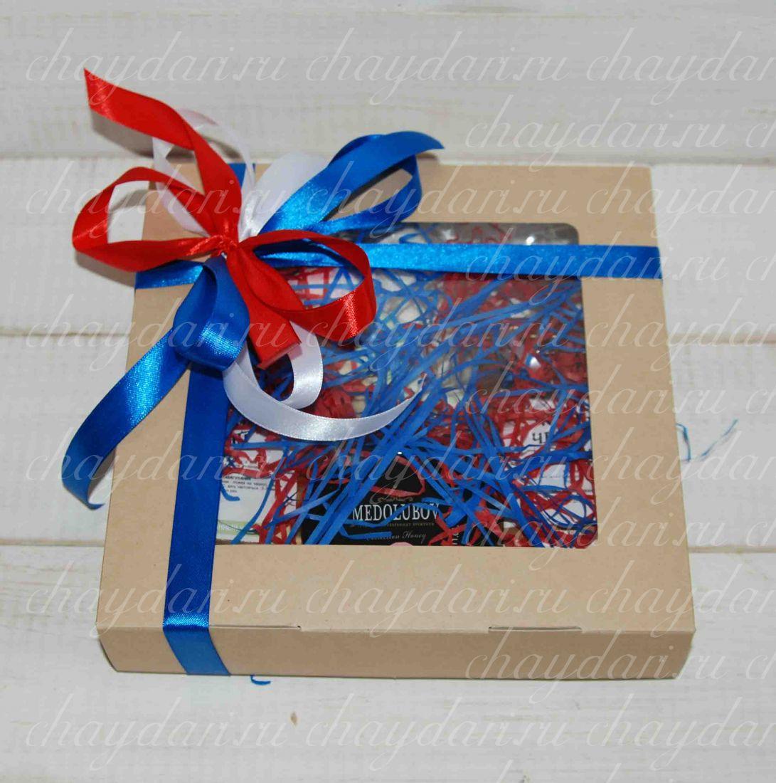"""Подарок из чая, меда и сладостей """"Патриоту на 23 Февраля"""""""