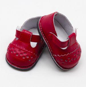 Обувь для кукол 6,5 см - сандалики красные