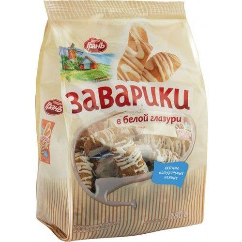 Печенье Заварики в белой глазури 180г Яшкино