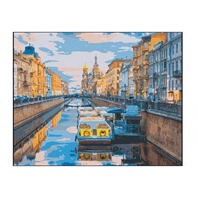 Роспись по холсту Санкт-Петербург. Канал Грибоедова  40х50см