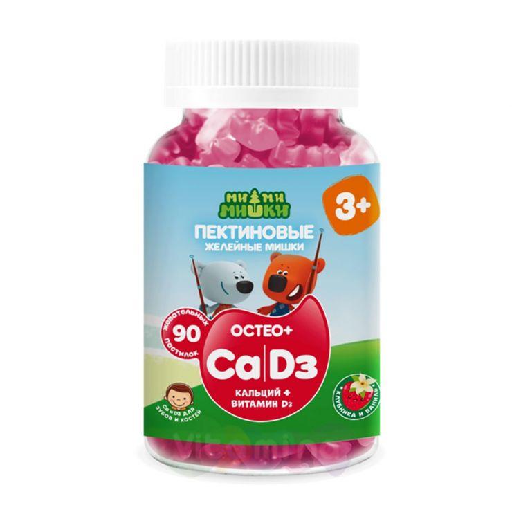 Ми-ми-мишки Остео+ Кальций и Витамин Д жев. пастилки пектиновые 90 шт.