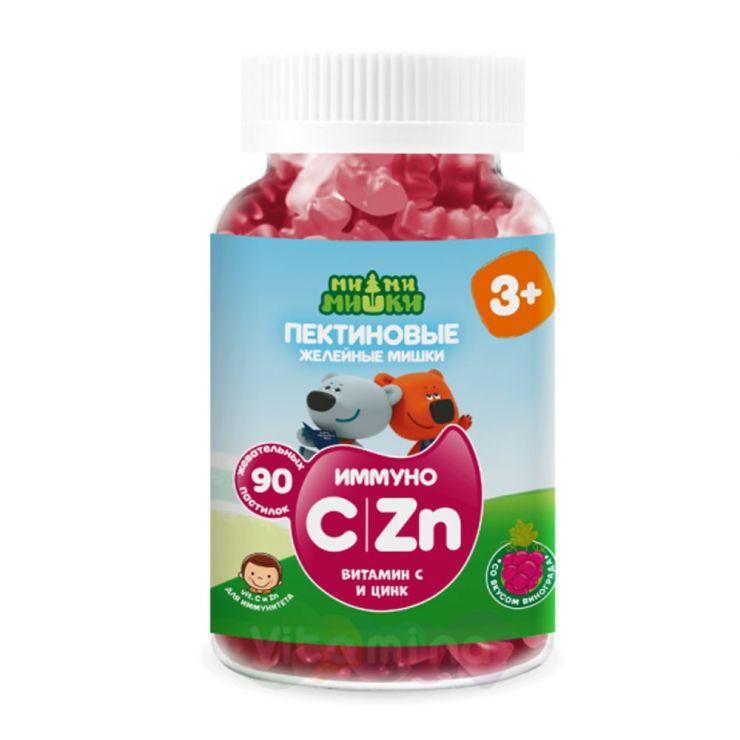Ми-ми-мишки иммуно: Витамин С и Цинк жев. пастилки пектиновые, 90 шт.