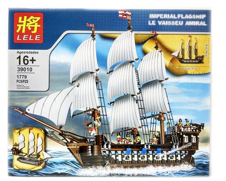"""Конструктор Lele Pirates of the Caribbean """"ФЛАГМАНСКИЙ КОРАБЛЬ"""" 1779 деталей NO.39010"""