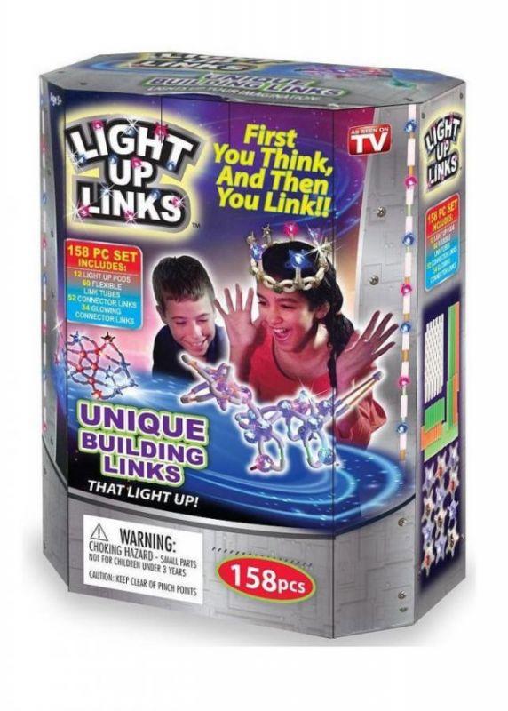 Светящийся Конструктор LIGHT UP LINKS, 158 Деталей
