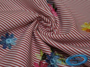 """Рубашечная ткань полоска """"вышивка"""" 16491/17A/D1/C#1"""