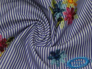 """Рубашечная ткань полоска """"вышивка"""" 16491/17A/D1/C#2"""