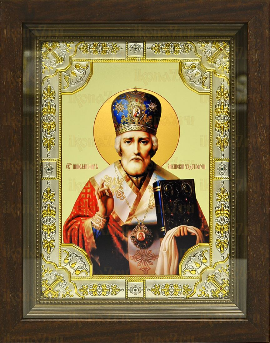 Николай Чудотворец (Угодник) (24х30), серебро