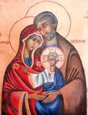 Икона Святое Семейство (копия старинной)