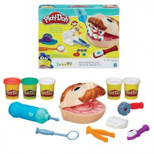 "Набор для творчества PLAY-DOH Hasbro ""Мистер Зубастик"", пластилин 5 цветов + аксессуары, в коробке, B5520"