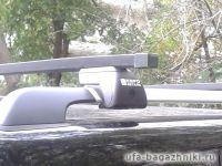 Багажник на крышу - стальные прямоугольные дуги на рейлинги UAZ Patriot, Евродеталь