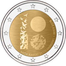 100 лет Эстонской Республике 2 евро Эстония 2018