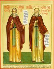 Икона Савва Сторожевский и Сергий Радонежский