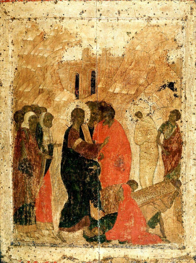 Икона Воскрешение Лазаря (копия 16 века)