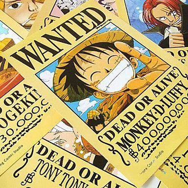 "Набор из 11 плакатов ""Wanted"" из ""One Piece"""