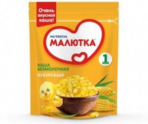 Каша Малютка Безмолочная Кукурузная (с 4 мес) 200г