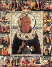 Икона Сергий Радонежский (копия 16 века)