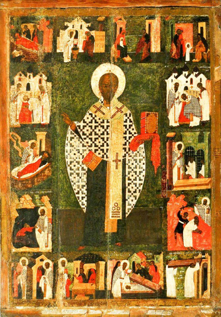 Николай Зарайский (копия иконы 16 века)