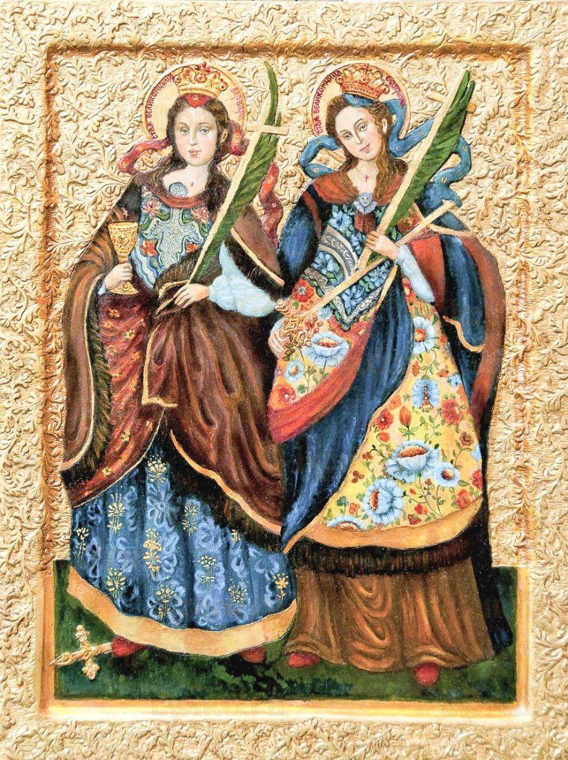 Икона Екатерина и Варвара