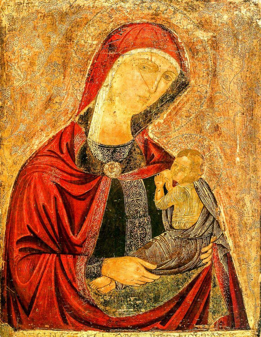 Икона Млекопитательница икона Божией Матери (копия 16 века)