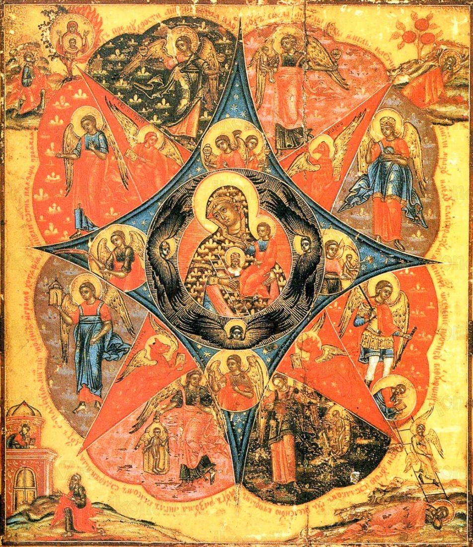 Икона Неопалимая купина икона Божией Матери (копия старинной)